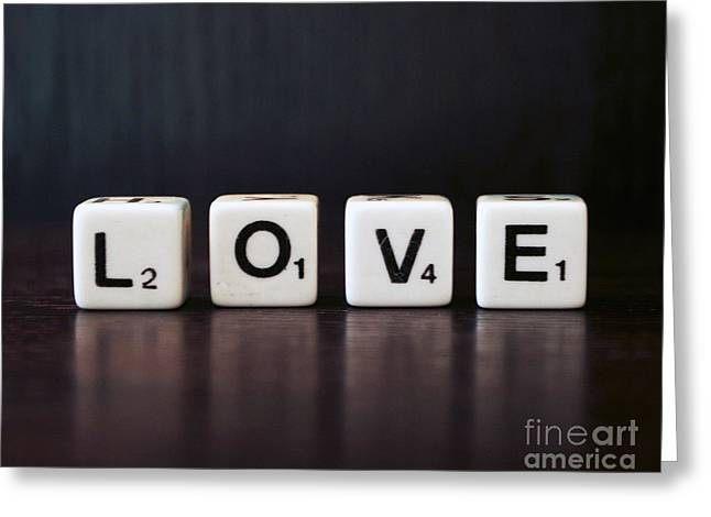 Love Game Greeting Cards - L O V E Greeting Card by Glennis Siverson