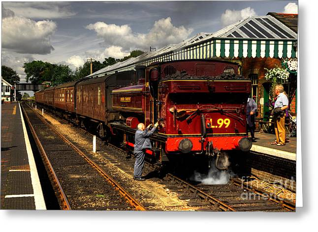 Pannier Greeting Cards - L99 at Sheringham Greeting Card by Rob Hawkins
