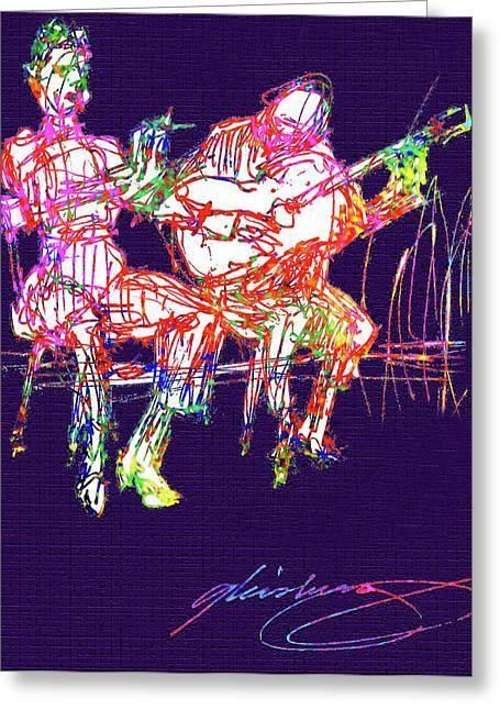De La Soul Greeting Cards - La Alma del Flamenco Greeting Card by Dean Gleisberg