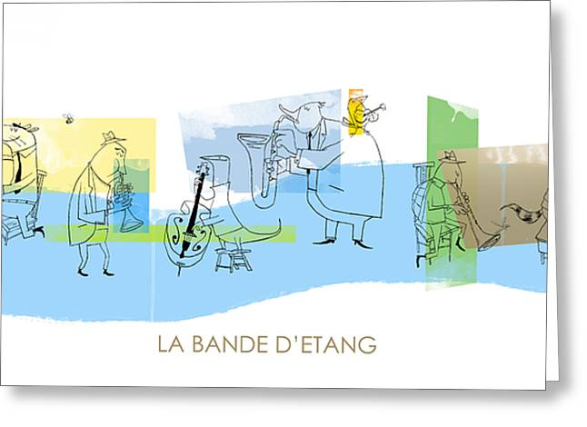 Raccoon Digital Art Greeting Cards - La Bande DEtang Greeting Card by Sean Hagan