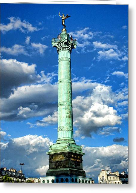 Bastille Photographs Greeting Cards - La Bastille Greeting Card by Roberto Alamino
