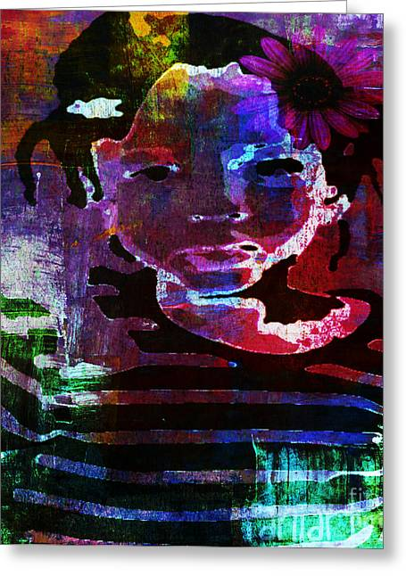 Belles Mixed Media Greeting Cards - La Belle Dheanna Greeting Card by Fania Simon