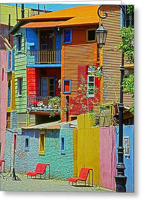 Viertel Greeting Cards - La Boca - Buenos Aires Greeting Card by Juergen Weiss
