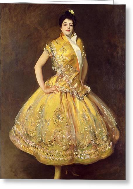 Latin Dance Greeting Cards - La Carmencita Greeting Card by John Singer Sargent