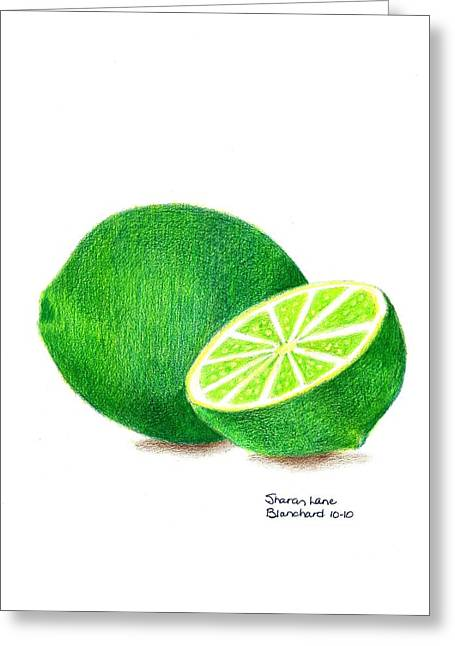 Culinary Drawings Greeting Cards - La Chaux Greeting Card by Sharon Blanchard