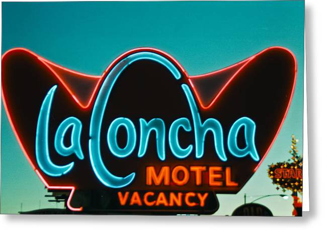 Old Signage Greeting Cards - La Concha Greeting Card by Matthew Bamberg