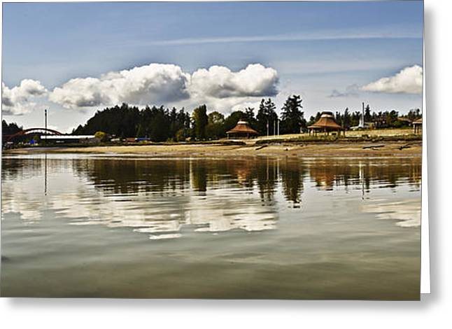 Decorative Fish Greeting Cards - La Conner Slough  Greeting Card by Tony Locke