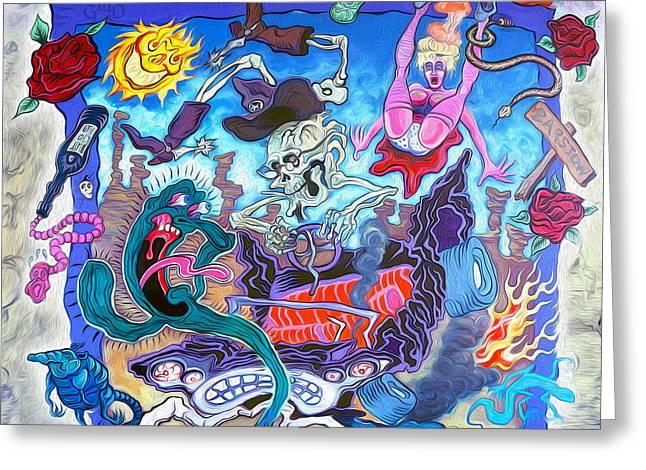 Gregory Dyer Greeting Cards - La Cruda Realidad - The Crude Reality Greeting Card by Gregory Dyer