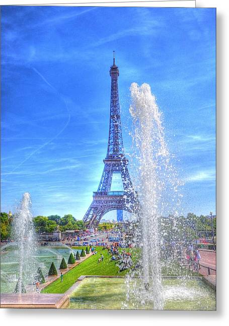 La Dame De Fer Greeting Card by Barry R Jones Jr