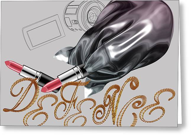 Air Brush Greeting Cards - La Defence 2 Greeting Card by Foltera Art