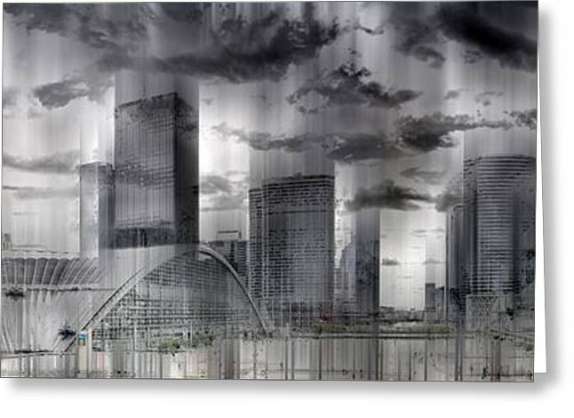 Colorkey Digital Greeting Cards - La Defense PARIS Greeting Card by Melanie Viola