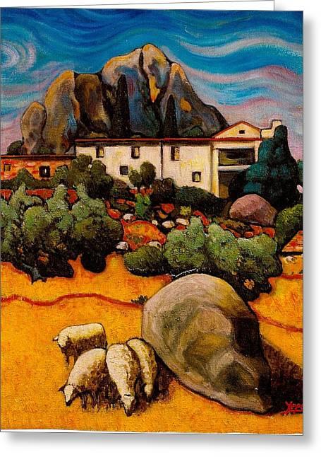 Teruel Greeting Cards - La ermita de Berge Greeting Card by Javi Yepes