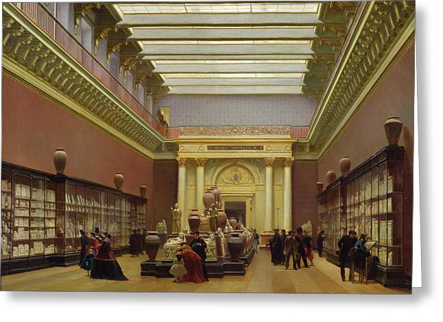 Louvre Greeting Cards - La Galerie Campana Greeting Card by Charles Giraud
