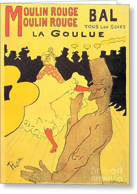 Henri De Toulouse-lautrec Paintings Greeting Cards - La Goulue Greeting Card by Pg Reproductions