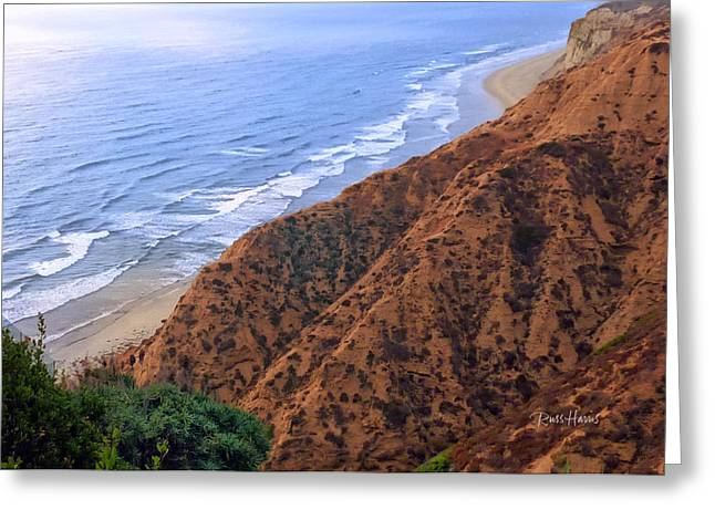 La Jolla Art Greeting Cards - La Jolla Cliffs Greeting Card by Russ Harris
