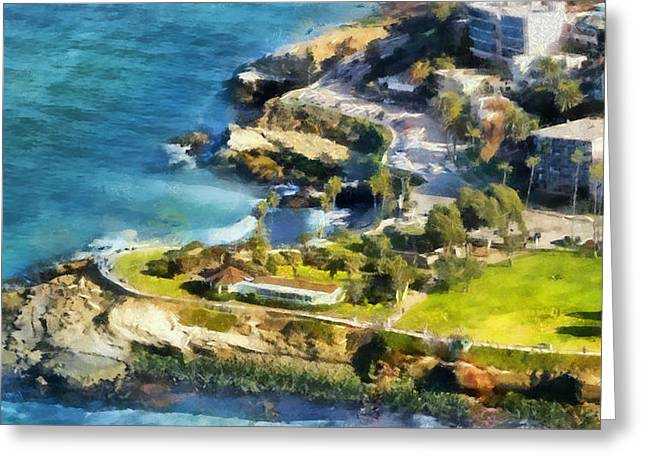 California Beach Art Digital Art Greeting Cards - La Jolla Cove  Greeting Card by Russ Harris