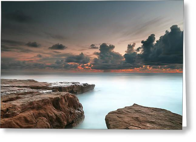 La Jolla Reef Sunset 6 Greeting Card by Larry Marshall