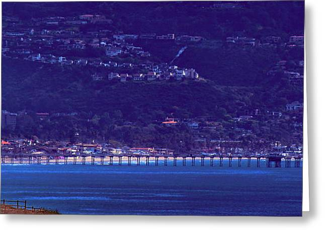 Tennis Club Greeting Cards - La Jolla Shores Pier from Torrey Pines Reserve Greeting Card by Russ Harris