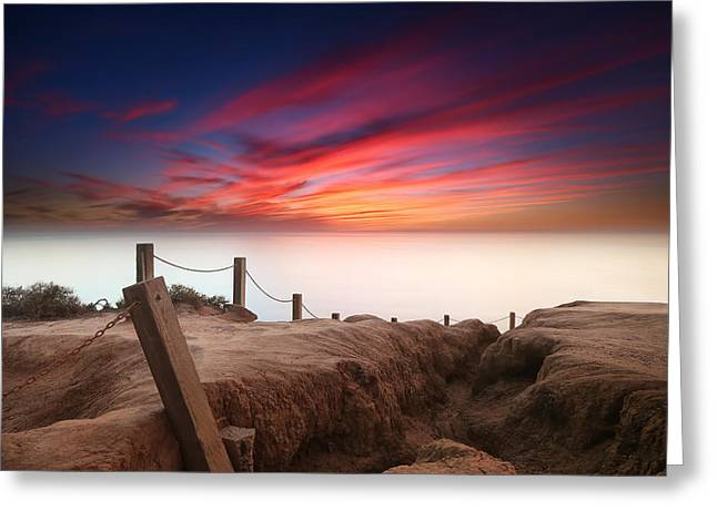 La Jolla Art Greeting Cards - La Jolla Sunset 2 Greeting Card by Larry Marshall