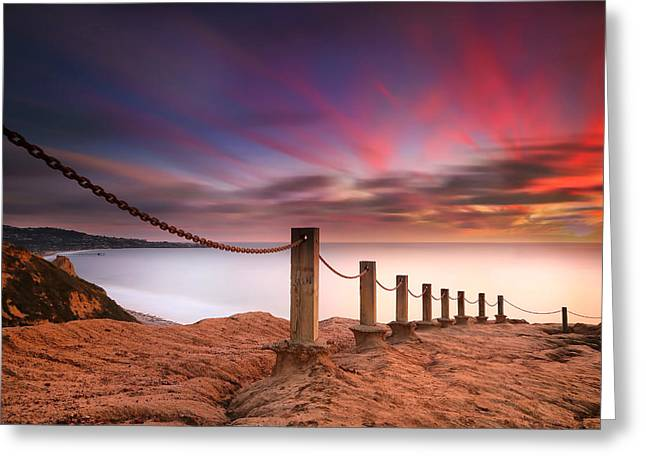 La Jolla Sunset 4 Greeting Card by Larry Marshall