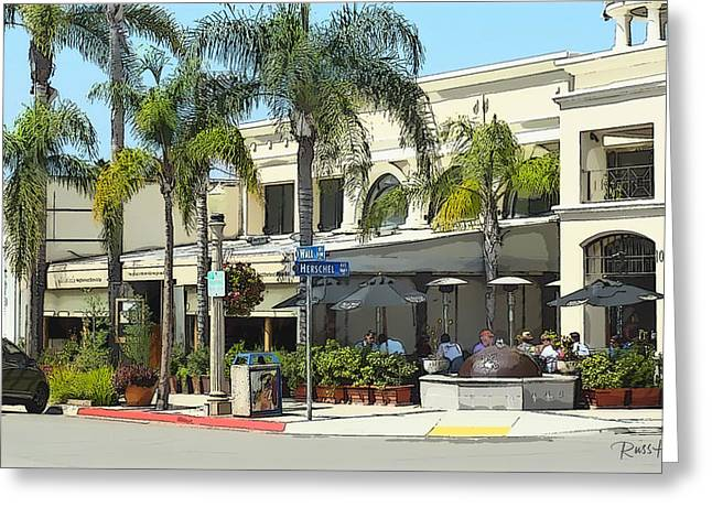 La Jolla Art Greeting Cards - La Jolla Village Greeting Card by Russ Harris