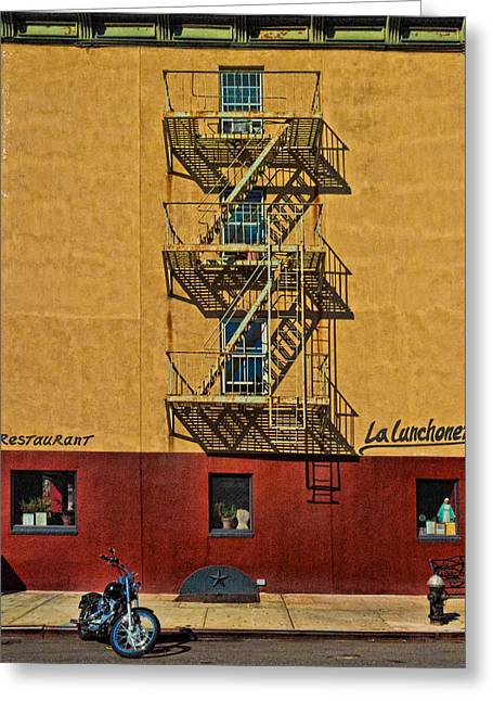 Chelsea Digital Art Greeting Cards - La Lunchonette Greeting Card by Chris Lord