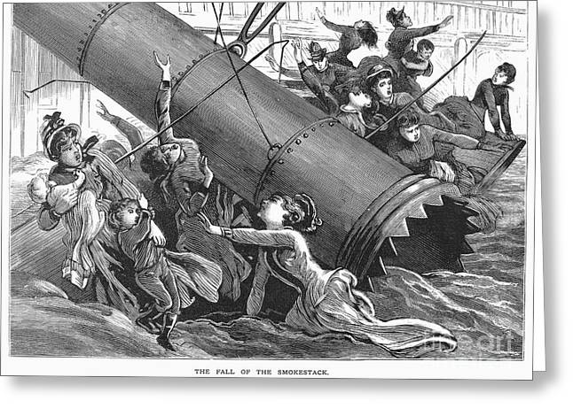 Neely Greeting Cards - La Mascotte Disaster, 1886 Greeting Card by Granger