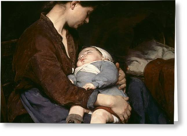 La Mere Greeting Card by Elizabeth Nourse