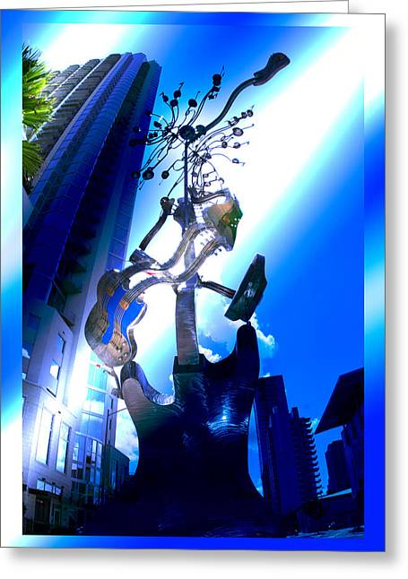 Guitar Sculpture Greeting Cards - La Pasos Greeting Card by Andrew Nourse