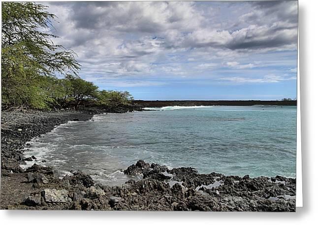 ; Maui Greeting Cards - La Perouse Bay Greeting Card by DJ Florek