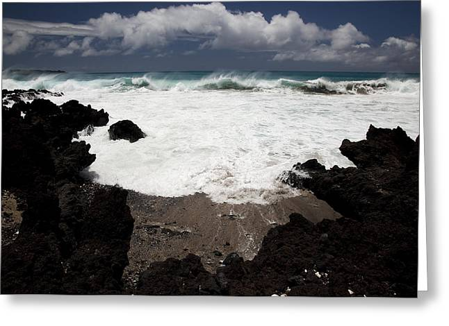 Perouse Greeting Cards - La Perouse Waves Greeting Card by Jenna Szerlag