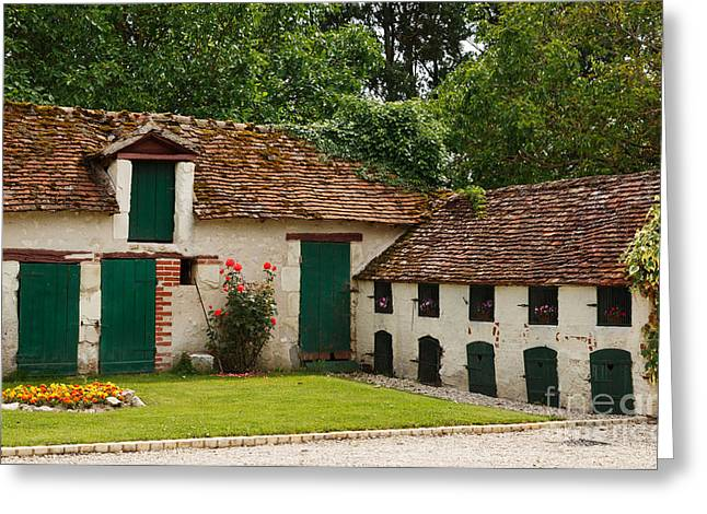 La Pillebourdiere old farm outbuildings in the Loire Valley Greeting Card by Louise Heusinkveld