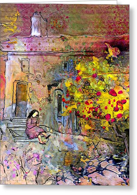 Provence Village Greeting Cards - La Provence 13 Greeting Card by Miki De Goodaboom