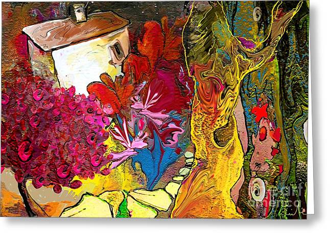 Provence Village Greeting Cards - La Provence 15 Greeting Card by Miki De Goodaboom