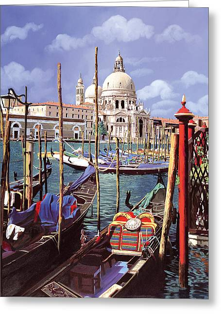 Venedig Greeting Cards - La Salute Greeting Card by Guido Borelli