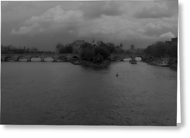 Streetlight Greeting Cards - La Seine dh 3 Greeting Card by Wessel Woortman