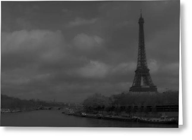 Streetlight Greeting Cards - La Seine dh 4 Greeting Card by Wessel Woortman