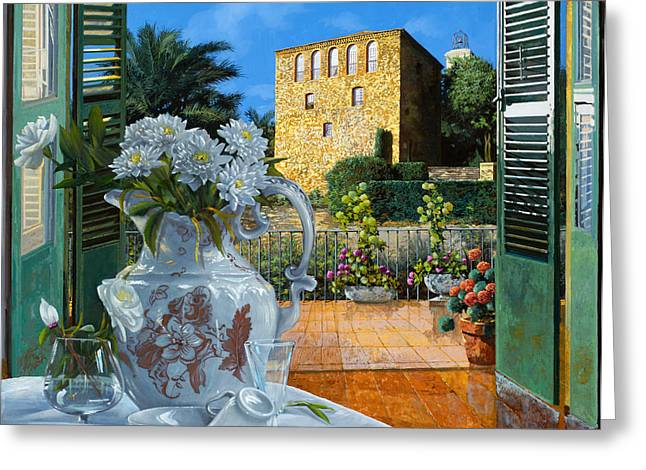 Made Greeting Cards - La tour carree in Ste Maxime Greeting Card by Guido Borelli