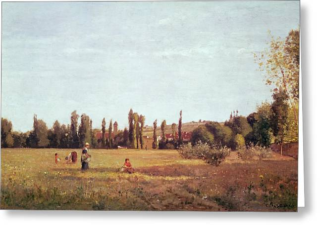 Camille Pissarro Paintings Greeting Cards - La Varenne de St. Hilaire Greeting Card by Camille Pissarro