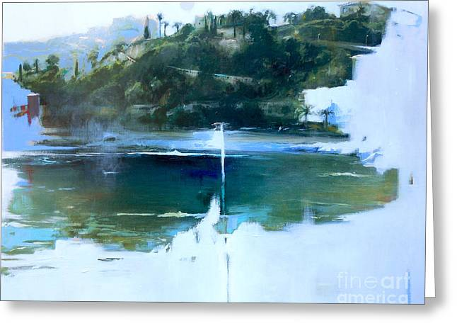 Villefranche Greeting Cards - La Villefranche franche Greeting Card by Lin Petershagen