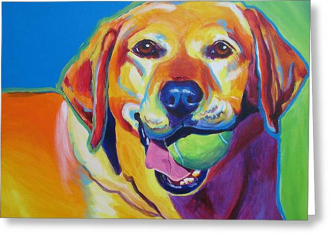 Alicia Vannoy Call Paintings Greeting Cards - Lab - Bud Greeting Card by Alicia VanNoy Call