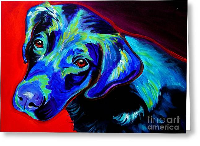 Retriever Prints Greeting Cards - Lab - Canyon Greeting Card by Alicia VanNoy Call