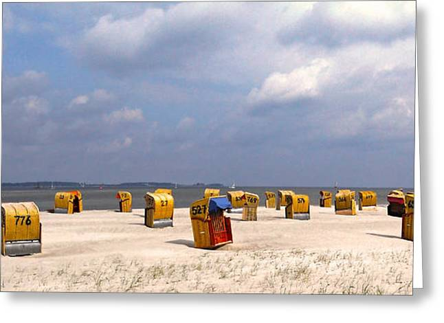 Farbenfroh Greeting Cards - Laboe Beach ... Greeting Card by Juergen Weiss