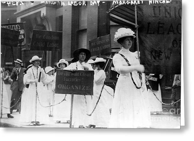 Labor Day Greeting Cards - Labor Day Parade In New York City Greeting Card by Photo Researchers