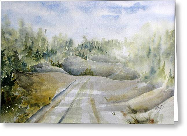 Roadway Greeting Cards - Labrador Wilderness Greeting Card by Ramona Kraemer-Dobson