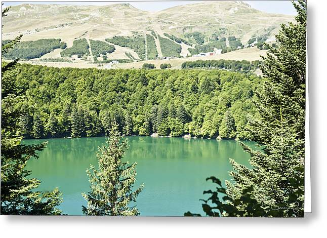 Fowler Park Greeting Cards - Lac Pavin Greeting Card by Nomad Art And  Design