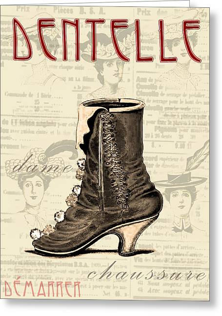 Boots Digital Greeting Cards - Lace It Up Greeting Card by Greg Sharpe