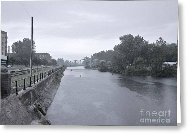 Atwater Greeting Cards - Lachine Canal at Atwater Greeting Card by Reb Frost