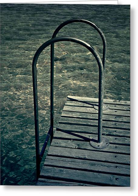 Ladder Greeting Cards - Ladder Into The Lake Greeting Card by Joana Kruse