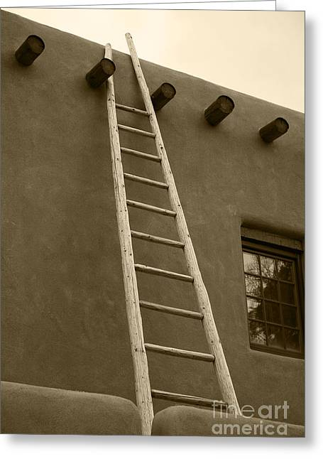 Adobe Greeting Cards - Ladder Greeting Card by Timothy Johnson